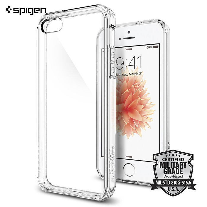 【SGP / Spigen】iPhone SE/5S/5 Ultra Hybrid 透明背蓋手機保護殼