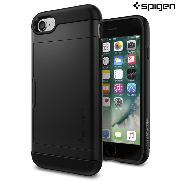 【SGP / Spigen】iPhone 7 Slim Armor CS 滑蓋式卡片收納空壓防撞手機殼