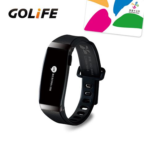 GOLiFE Care-X 智慧悠遊手環-黑色( 贈送悠遊卡錶帶)★限時下殺原特價$3490★