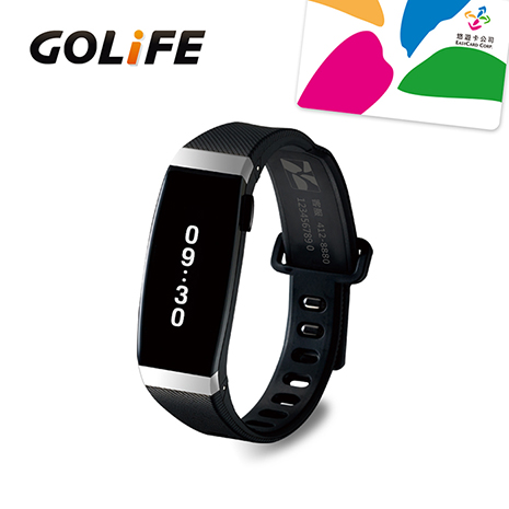 GOLiFE Care-X 智慧悠遊手環-銀黑色(贈送悠遊卡錶帶)★限時下殺原特價$3490★