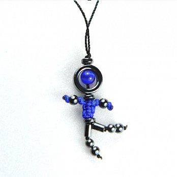 防小人招貴人開運吊飾-藍紋石(藍)