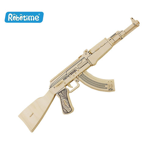 【Robotime】DIY木質3D立體拼圖-AK47突擊步槍