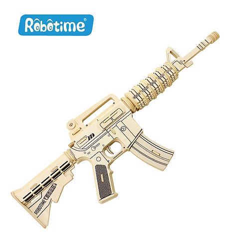 【Robotime】DIY木質3D立體拼圖-M4A1突擊步槍
