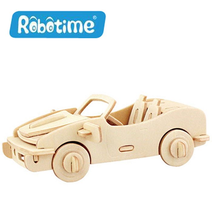 【Robotime】DIY木質3D立體拼圖-保時捷