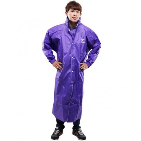 新二代 JUMP前開素色休閒風雨衣-紫色