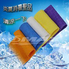 PVA仿麂皮瞬間涼感領巾4入 包^(99x14cm^)~1入 方巾3入^(顏色 出貨^)