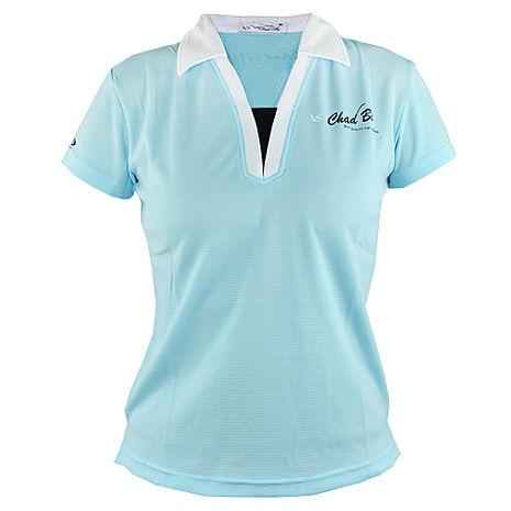 【遊遍天下】MIT台灣製女款抗UV涼爽吸濕排汗能POLO衫S6281水藍
