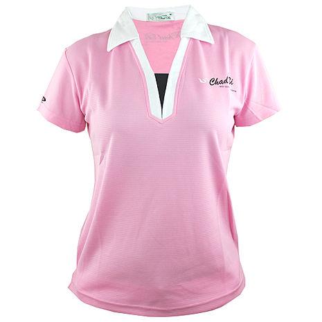 【遊遍天下】MIT台灣製女款抗UV涼爽吸濕排汗能POLO衫S6281粉紅S