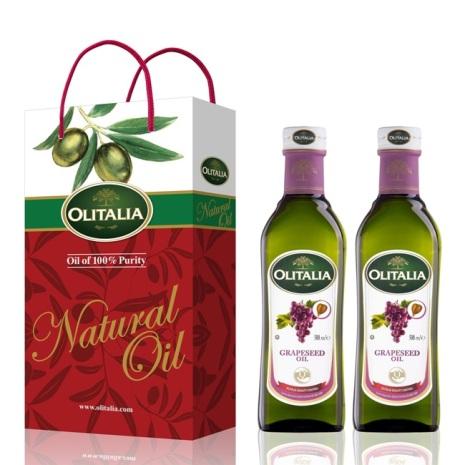 Olitalia奧利塔葡萄籽油禮盒組500mlx2瓶