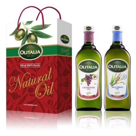 Olitalia奧利塔葡萄籽油+玄米油禮盒組1000mlx2瓶
