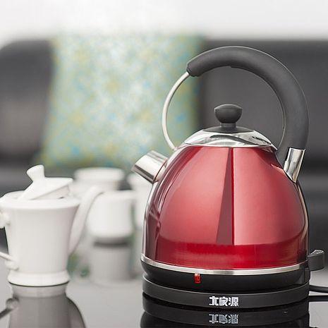 大家源 1.8L 304不鏽鋼時尚保溫快煮壼/電水壺-紅色鋼琴烤漆TCY-2738