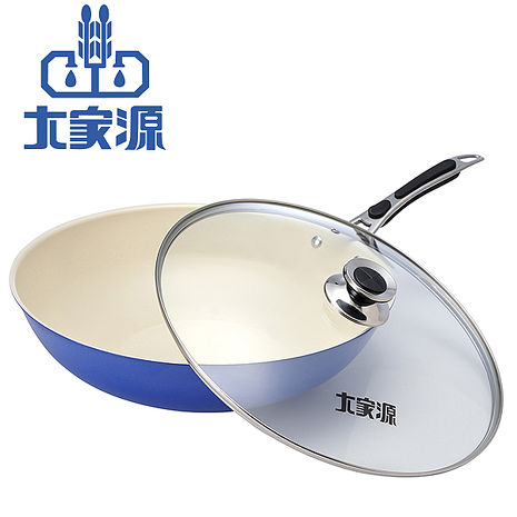大家源福利品 36cm健康陶瓷炒鍋TCY-9336