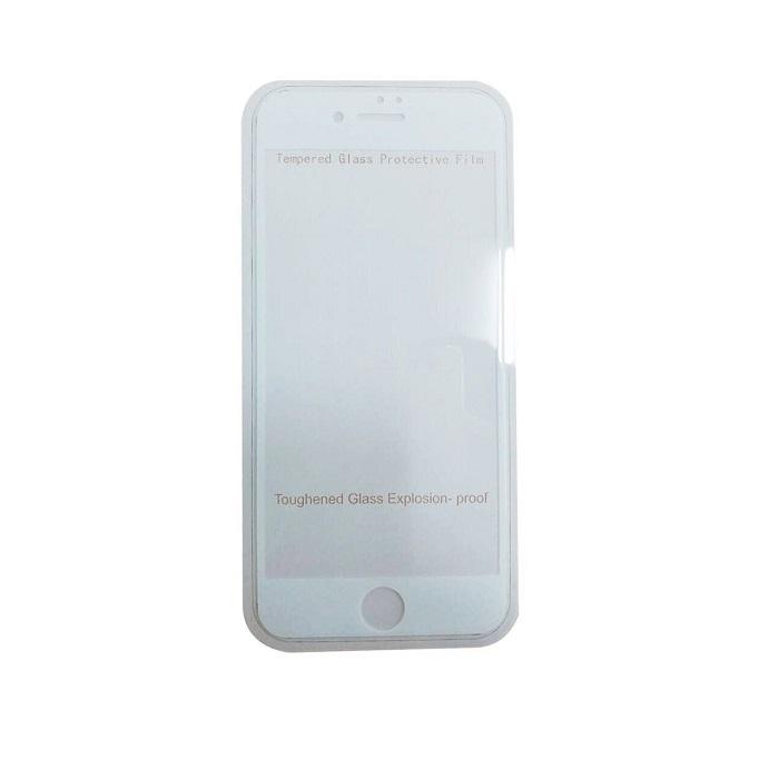 【膜皇】滿版抗刮玻璃保貼-白(iPhone 7)