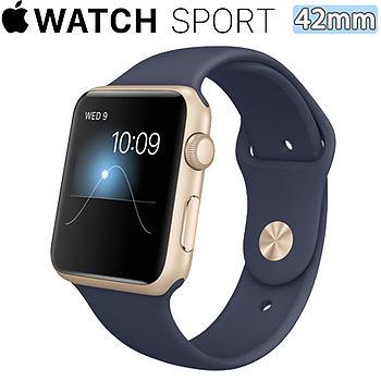 【拆封新品】Apple Watch Sport 42 _(午夜藍色)(Apple美商蘋果)