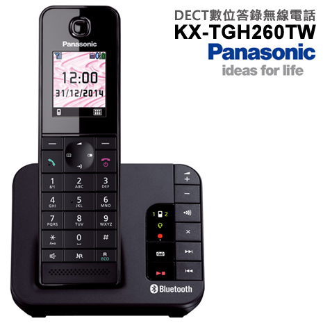 Panasonic國際 DECT數位答錄無線電話(KX-TGH260TW)*送3C拭鏡布