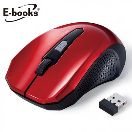 E-books M14省電型1600dpi無線滑鼠-紅