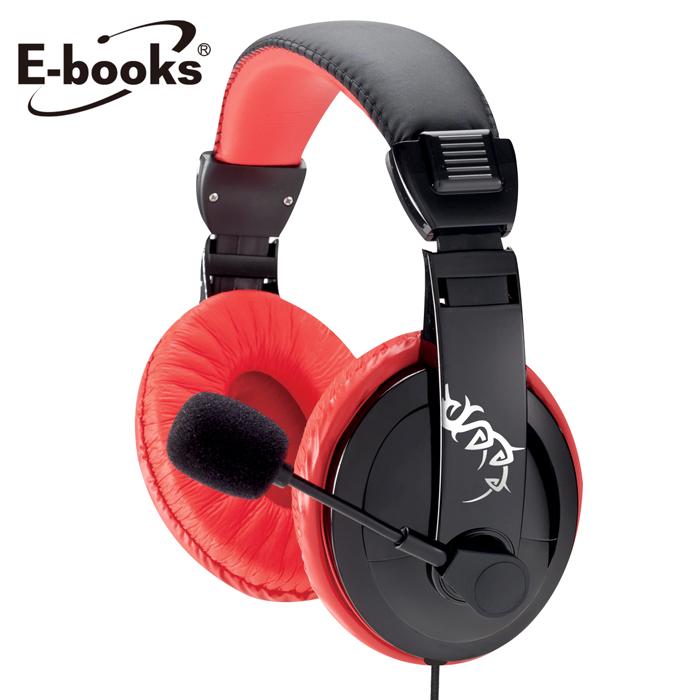 E-books S48電競頭戴耳機麥克風(送滑鼠墊)
