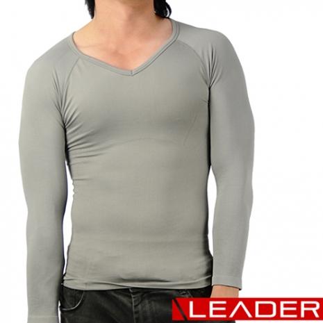 【LEADER】冬季限定長袖腰腹專用塑身衣(灰色)