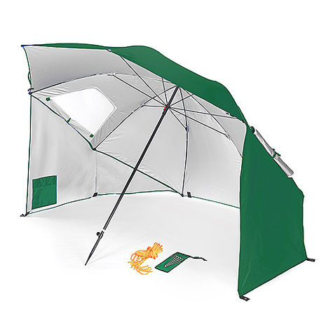 戶外多功能 抗紫外線 沙灘遮陽帳篷傘 綠色