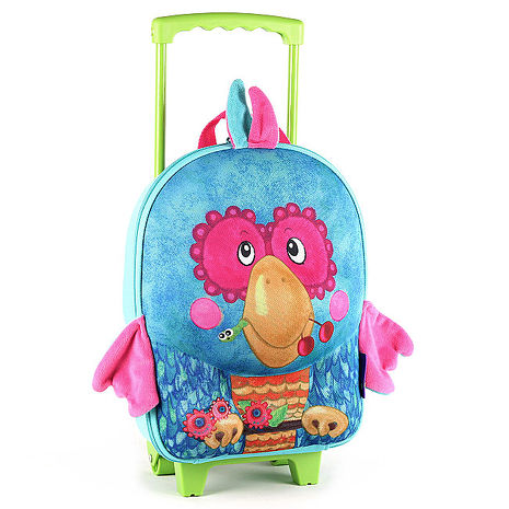 okiedog 立體兒童行李箱 - 鸚鵡