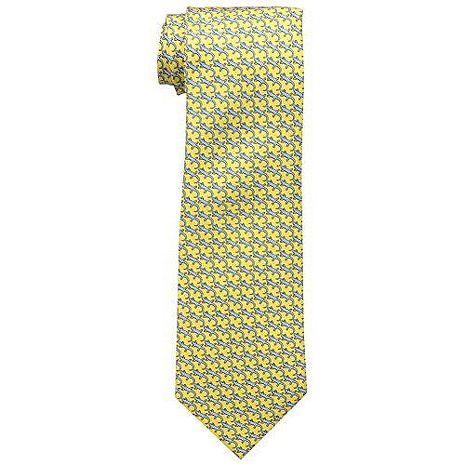 【Tommy Hilfiger】2015男時尚蜥蜴紋黃色領帶★預購