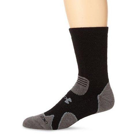 Under Armour 2016男時尚黑灰色重墊層靴羊毛襪子★預購