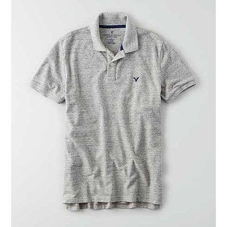 American Eagle 2016男時尚小老鷹刺繡灰色短袖POLO預購