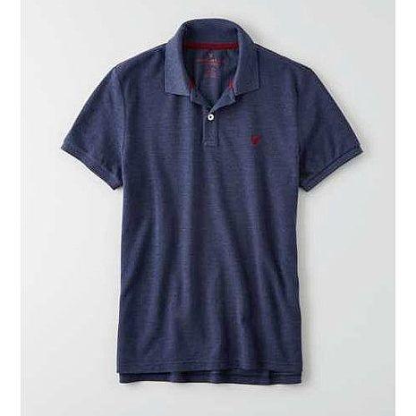 American Eagle 2016男時尚小老鷹刺繡深藍色短袖POLO預購