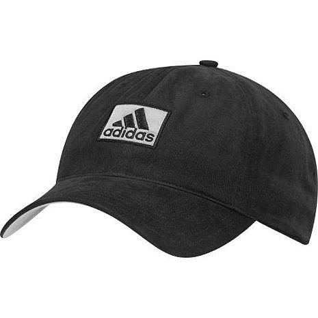 Adidas 2016男時尚全棉高爾夫球黑色帽子★預購