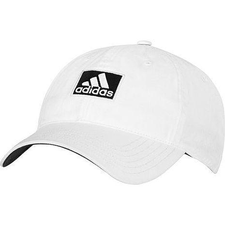 Adidas 2016男時尚全棉高爾夫球白色帽子★預購