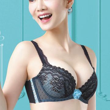 【華歌爾】莎薇-玩色好愛現D-F罩杯內衣(莓果黑)