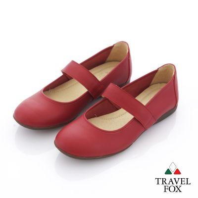 Travel Fox(女)  舞伶之美 平底娃娃旅狐休閒鞋 - 跳舞紅