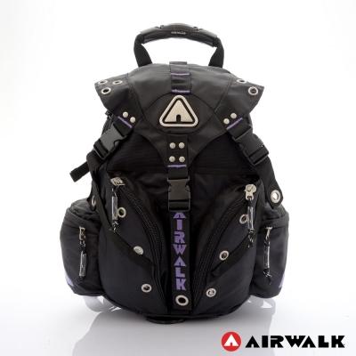 AIRWALK - 美式潮流三叉扣尼龍迷你後背包 - 想像紫