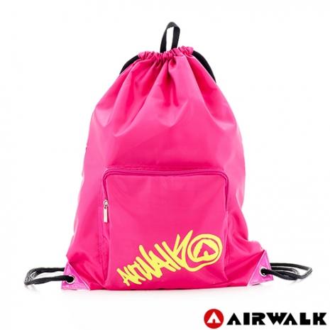 AIRWALK - 輕便束口袋 無拘無束 自由出走輕便束口後背包 - 黃字粉