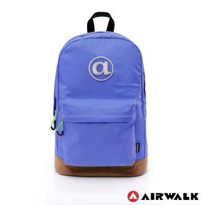 AIRWALK - 頑色糖果系列 純色筆電後背包 - 深藍