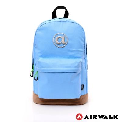 AIRWALK - 頑色糖果系列 純色筆電後背包 - 淺藍