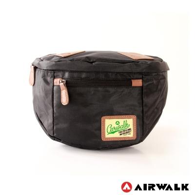 AIRWALK - 原創本色豬鼻隨身腰包 - 黑