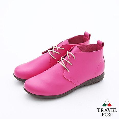 Travel Fox(女)簡愛娃娃高筒靴 - 桃粉