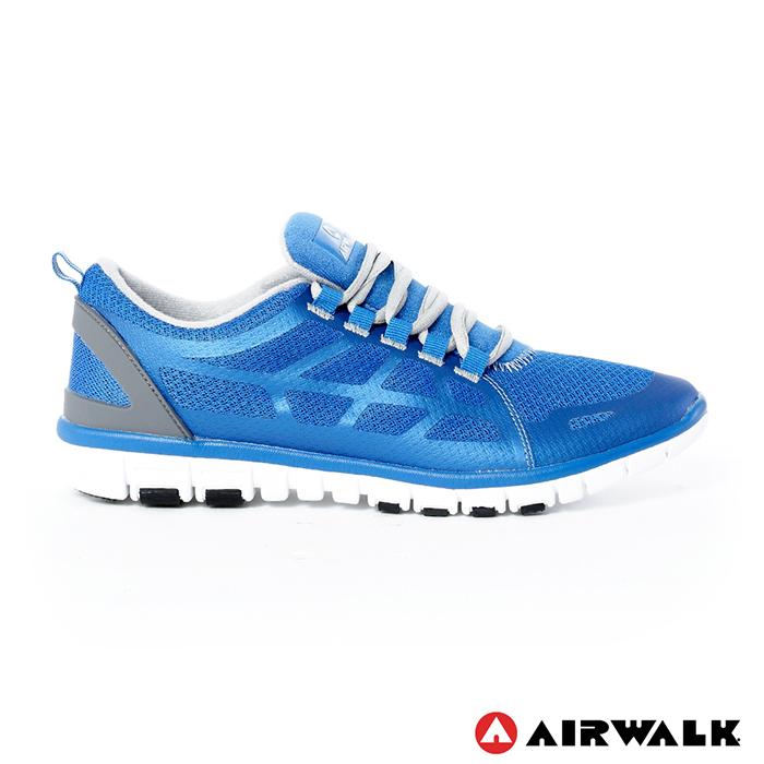 AIRWALK(男) - 輕量透氣記憶鞋墊運動鞋 - 中藍