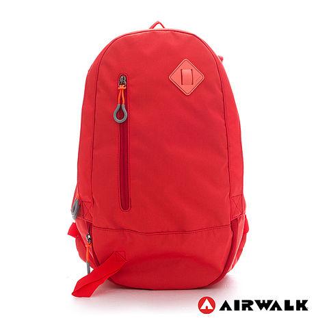 AIRWALK-簡約純色輕量蛋型後背包-純橘