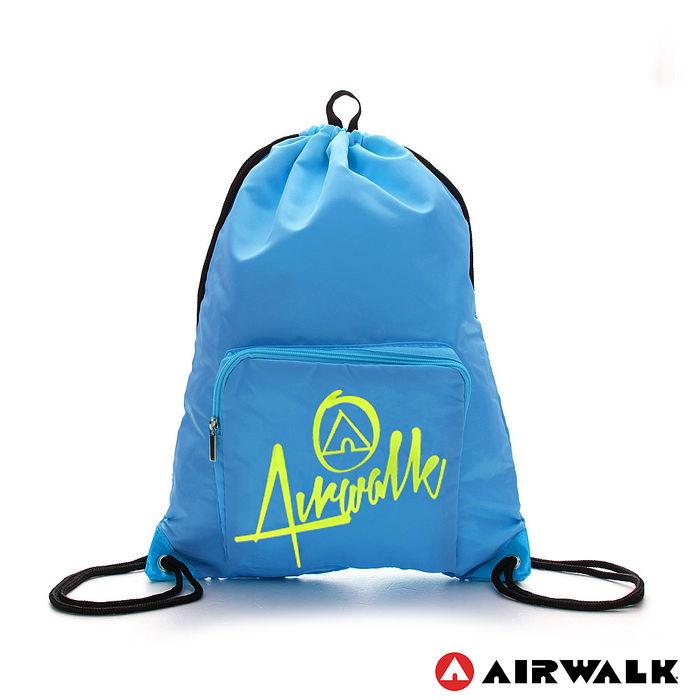 AIRWALK - 樂活城市系列 第二代尼龍束口後背包 - 淺藍