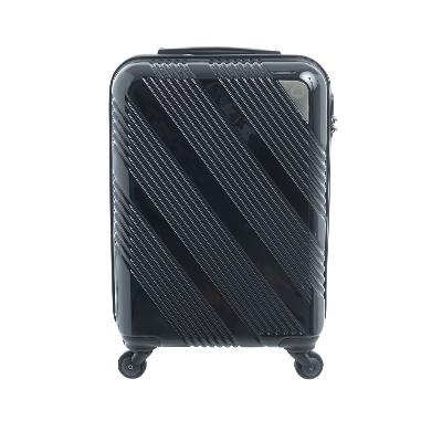 AIRWALK LUGGAGE - 斜紋系列 20吋ABS+PC拉鍊行李箱 - 斜紋黑