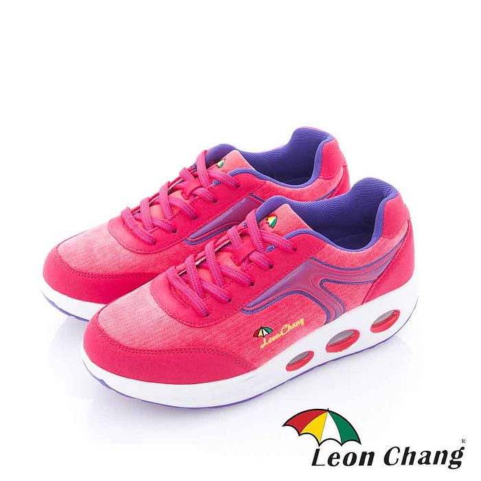 Leon Chang(女) - 形色之間 厚底健康舒適休閒運動鞋 - 藍裡粉