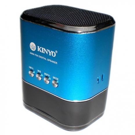 【KINYO】高容量電池FM讀卡喇叭(MPS-377)
