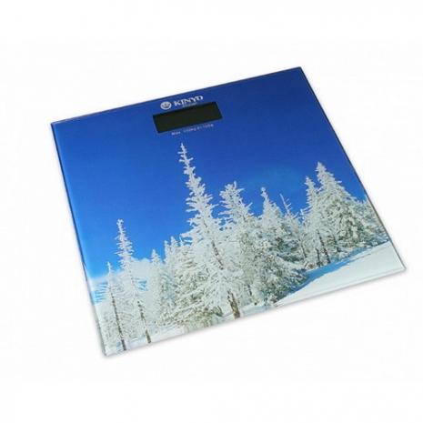 【KINYO】大自然圖案電子體重計(DS-6582)