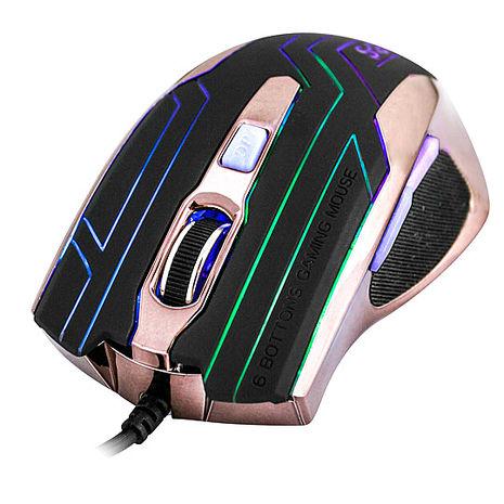 【KINYO】鋼鐵力士6鍵式電競專用有線滑鼠(GKM-807)