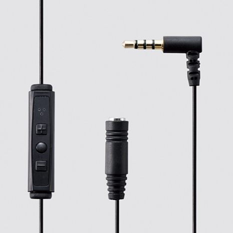 ELECOM iPhone麥克風線控 黑