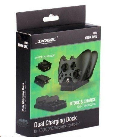 XBOXONE 專用 副廠 無線手把 同步充電收納座 充電座 雙手把 附充電電池