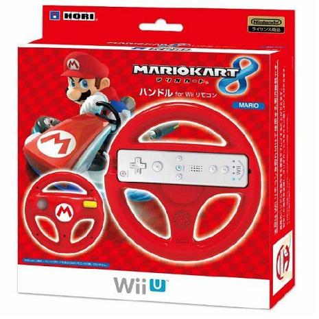 任天堂 Wii U / Wii HORI 瑪利歐賽車 8 限定方向盤 紅瑪利樣式 WIU-068