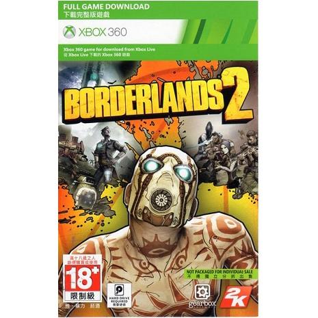 XBOX 360 遊戲 邊緣禁地 2 下載卡Borderlands 2 英文亞版 非實體片